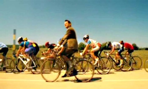 Mr Bean on cycle