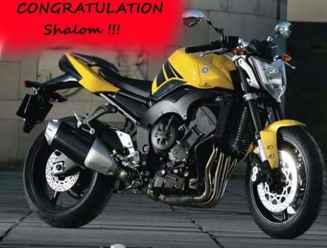 Congratulation Shalom !!!