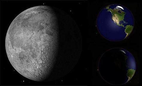 moon & earth